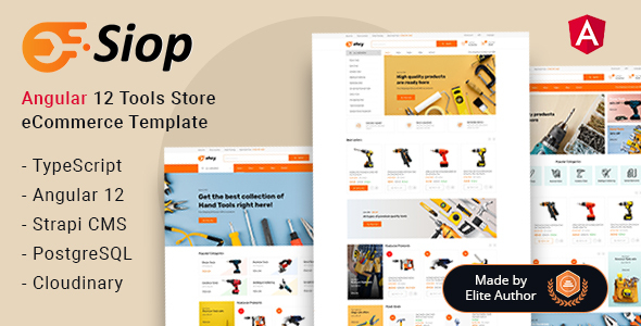 Siop - Tools Store Angular Functional Template + Admin Panel