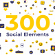 300 Social Elements | After Effects - VideoHive Item for Sale