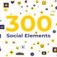 300 Social Elements | Premiere Pro - VideoHive Item for Sale