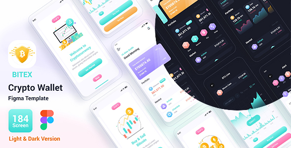 Bitex – Crypto Wallet Figma Template