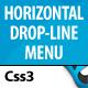 CSS3 Horizontal Drop Line Menu - CodeCanyon Item for Sale
