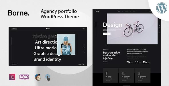 Borne - Agency Portfolio WordPress Theme Free Download Lastes Version