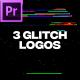 Glitch Logos For Premiere Pro - VideoHive Item for Sale