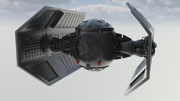 Vaders Tie Fighter - 3DOcean Item for Sale