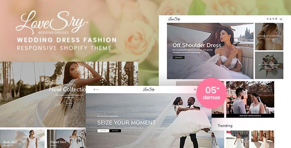 LoveSry - Wedding Dress Fashion Responsive Shopify Theme