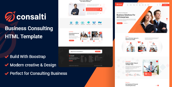 Consalti - Consultancy & Business HTML Template