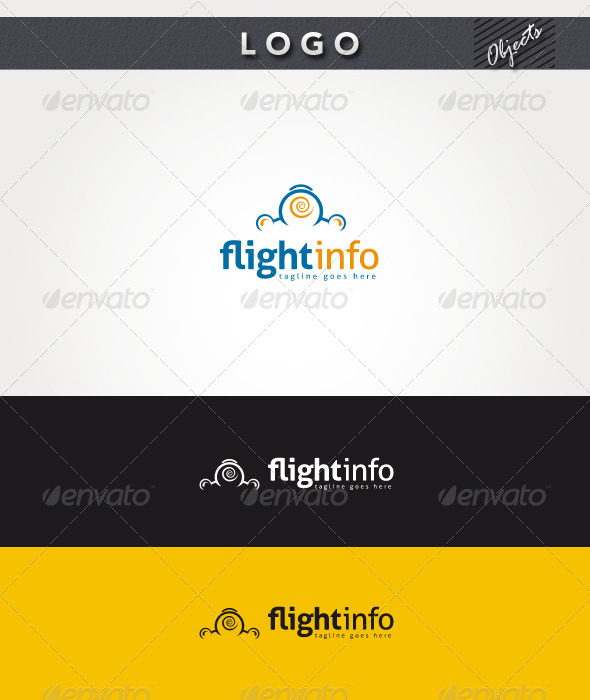 Flight Info Logo - Objects Logo Templates