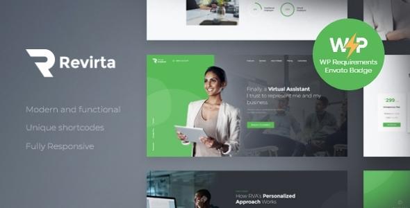 Revirta | Personal Virtual Assistant & Secretary WordPress Theme
