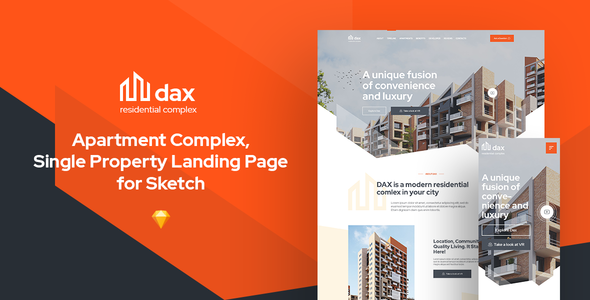 DAX - Apartment Complex Landing Page for Sketch