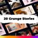 20 Urban Grunge Instagram Stories - VideoHive Item for Sale