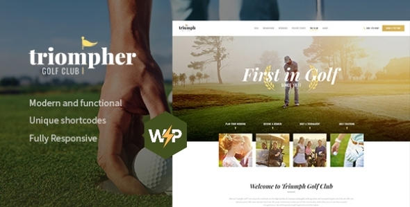 Triompher | Golf Course & Sports Club WordPress Theme