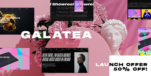 Galatea - Creative Portfolio WordPress Theme Free Download Lastes Version
