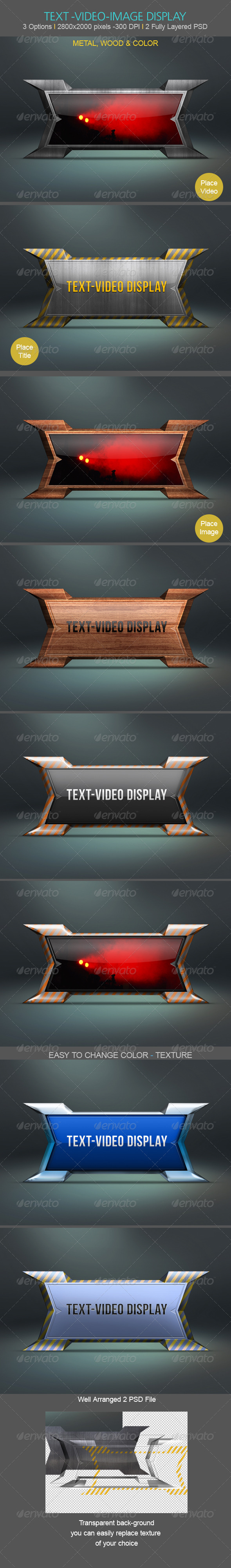 Text-Video-Image Desplay - Tech / Futuristic Photo Templates