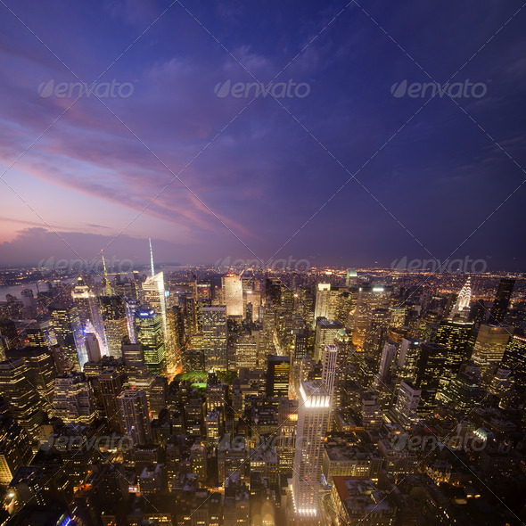 Manhattan Sunset - Stock Photo - Images