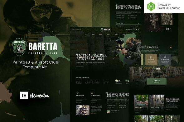 Baretta – Paintball & Airsoft Club Elementor Template Kit