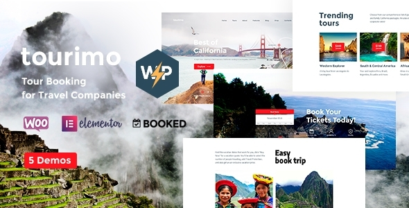 Tourimo - Tour Booking WordPress Theme