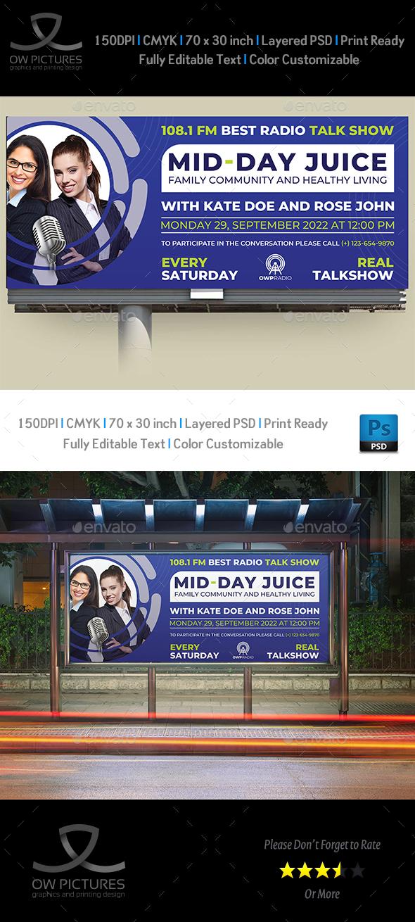 Radio Talk Show Billboard Template