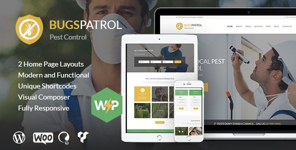 BugsPatrol - Pest & Insects Control Disinsection Services WordPress Theme