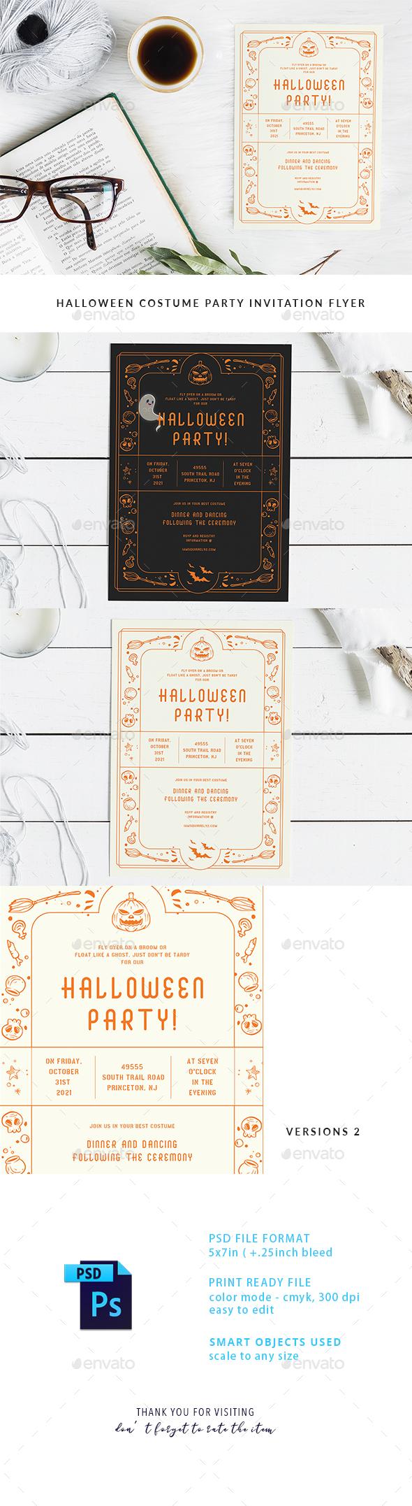 Halloween Dinner Party Invitation