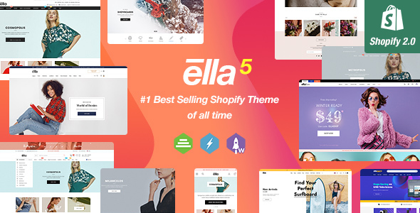 Ella - Multipurpose Shopify Sections Theme Nulled