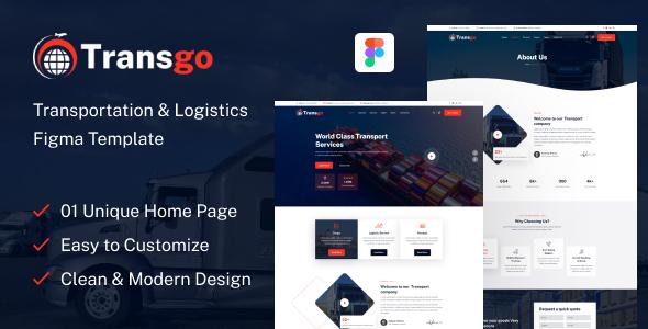 Transgo - Transportation & Logistics Figma Template