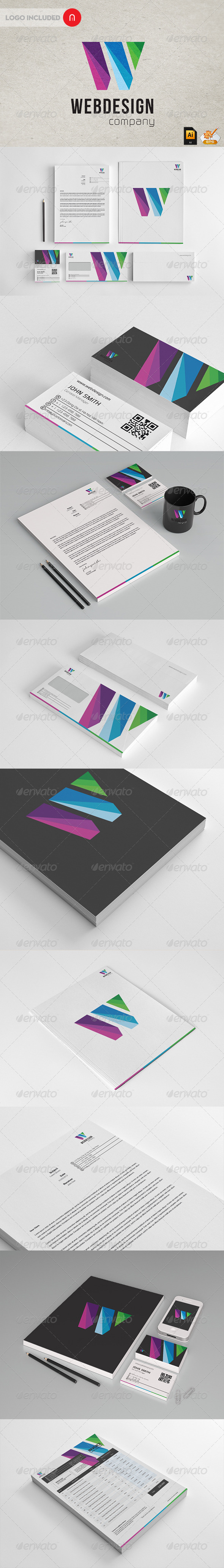 Wen Design - Modern Stationary + Invoice - Stationery Print Templates