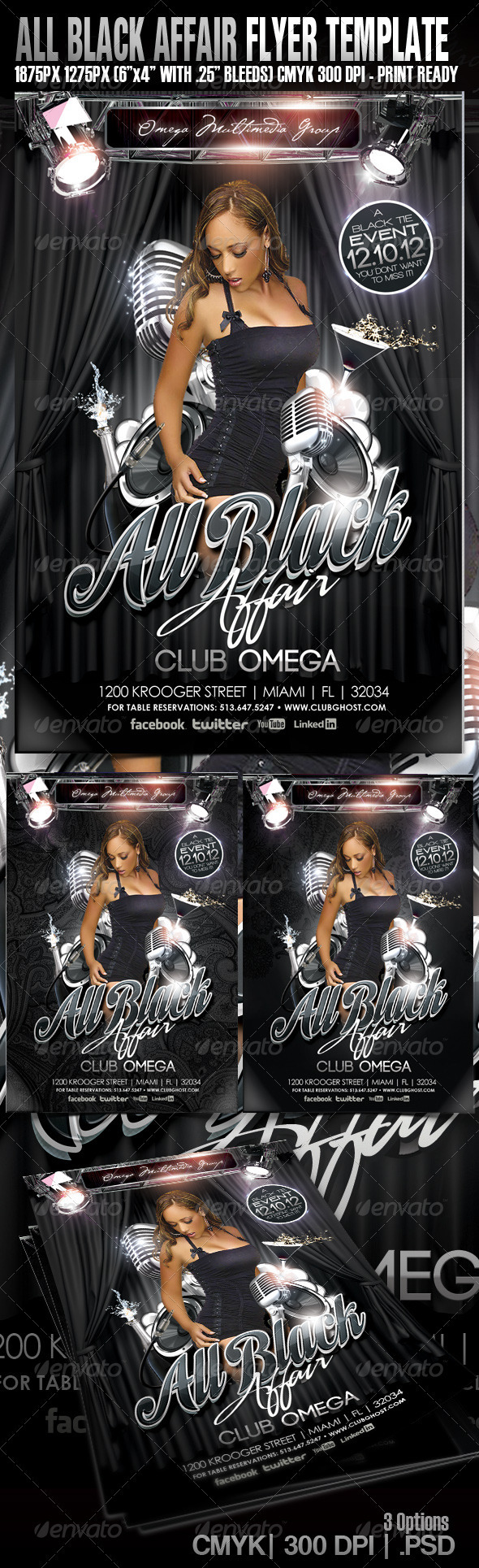 All Black Party - Events Flyers