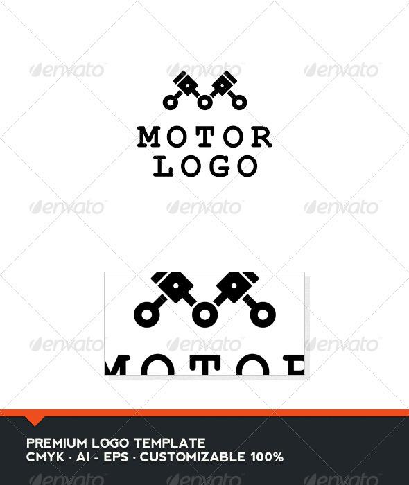 Motor Logo - Letter M Logo Template - Letters Logo Templates
