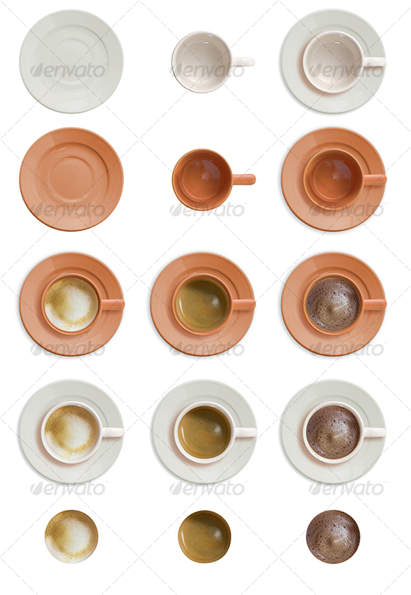 Coffee Cup Set - Food & Drink Isolated Objects