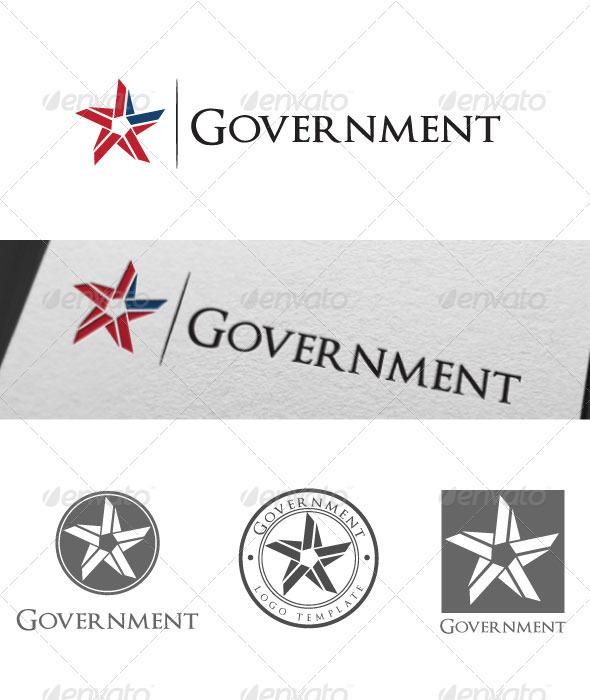 Government Logo Template - Vector Abstract