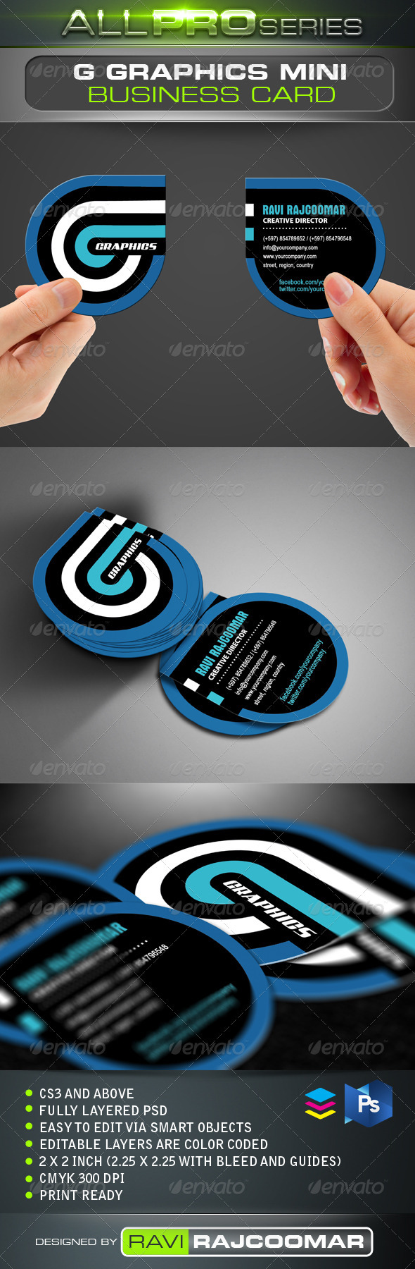 G Graphics Mini Business Card - Creative Business Cards
