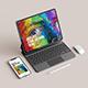 iPad with iPhone pro mockup