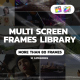 Multi Screen Frames Pack for Apple Motion and FCPX - VideoHive Item for Sale