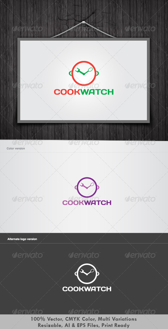 Cookwatch Logo by dotnpix - Food Logo Templates