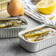 Canned sardines. Sea fish in tin can. - PhotoDune Item for Sale