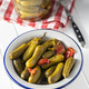 Marinated pickles. Canned cucumbers. - PhotoDune Item for Sale