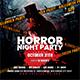 Horror Night Party | Halloween Flyer