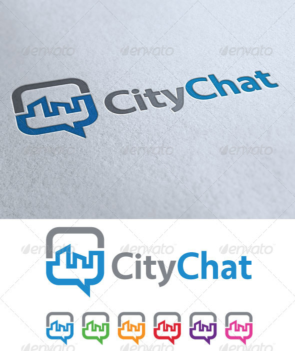 City Chat - Symbols Logo Templates