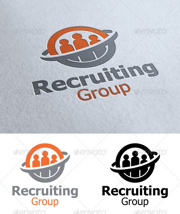 Recruiting Group - Humans Logo Templates