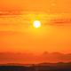 Beautiful Sunset Sunrise Over Dark Mountain Silhouette. Sunshine dramatic sky - PhotoDune Item for Sale