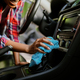 Woman wipes car interior with rag, hand auto wash - PhotoDune Item for Sale