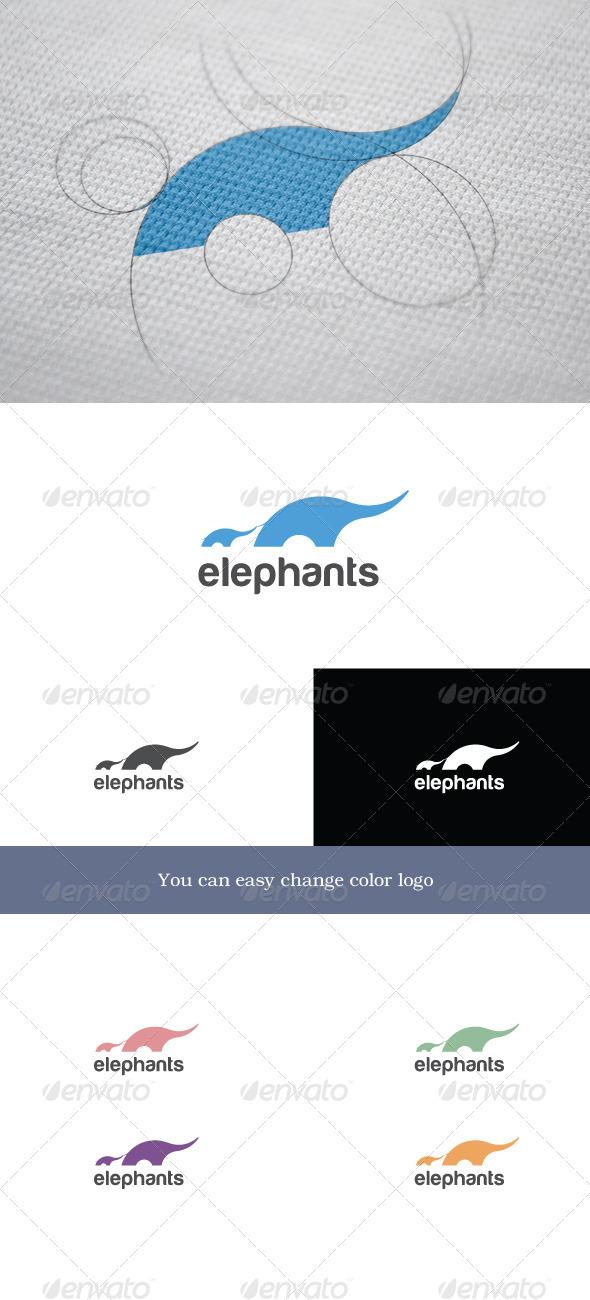 Elephants - Animals Logo Templates