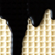 Chocolate Glaze on Waffel. Food Texture Background - PhotoDune Item for Sale