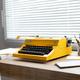 Vintage old typewriter on wood desk table. Writer or study creative concept - PhotoDune Item for Sale