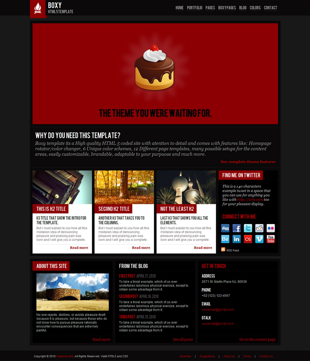 Free Download Boxy - Modern HTML 5 template Nulled Latest Version