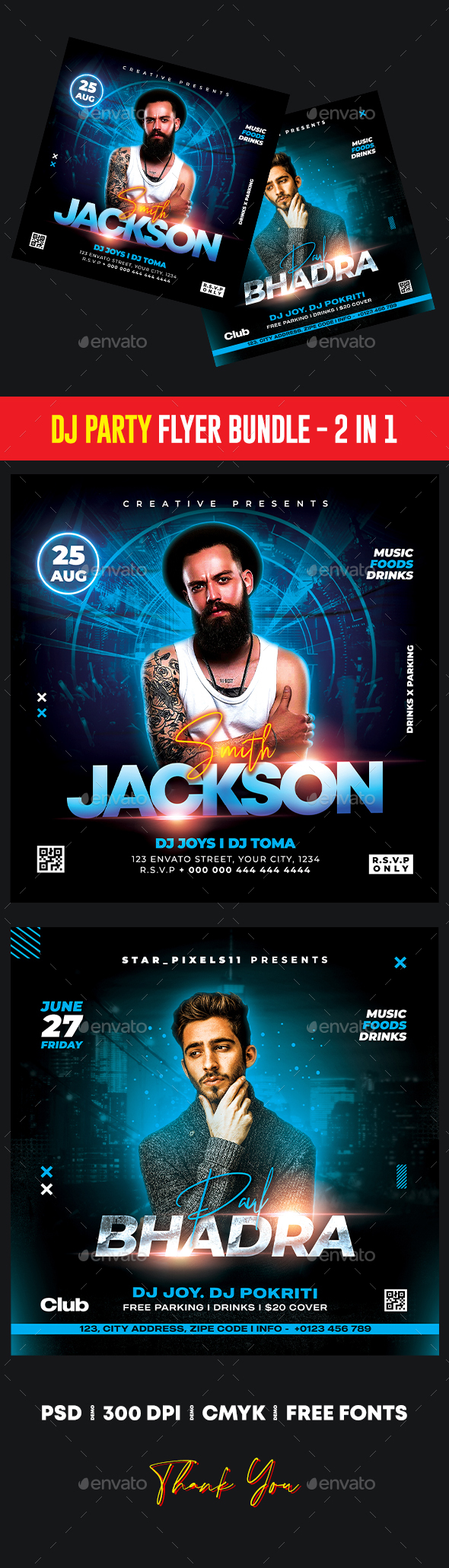 DJ Party Flyer Bundle