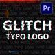 Glitch Typo Logo | Mogrt - VideoHive Item for Sale