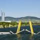 Donau And Ponte Cagrana Bridge in Vienna, Austria - PhotoDune Item for Sale