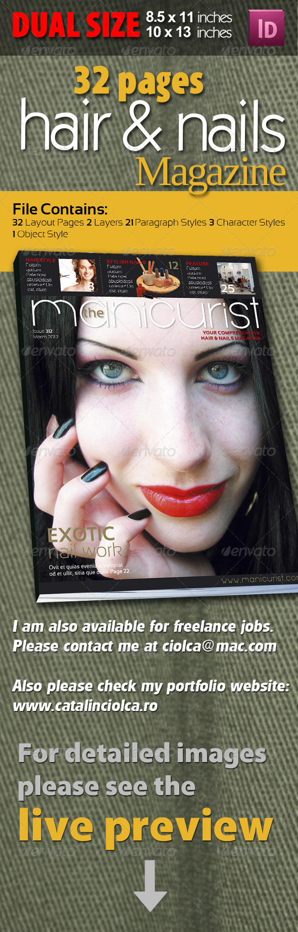 32 Pages Hair & Nail Magazine - Magazines Print Templates