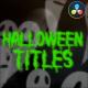 Halloween Titles   DaVinci Resolve - VideoHive Item for Sale